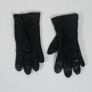 Black Isotoner lined leather gloves 7 1219